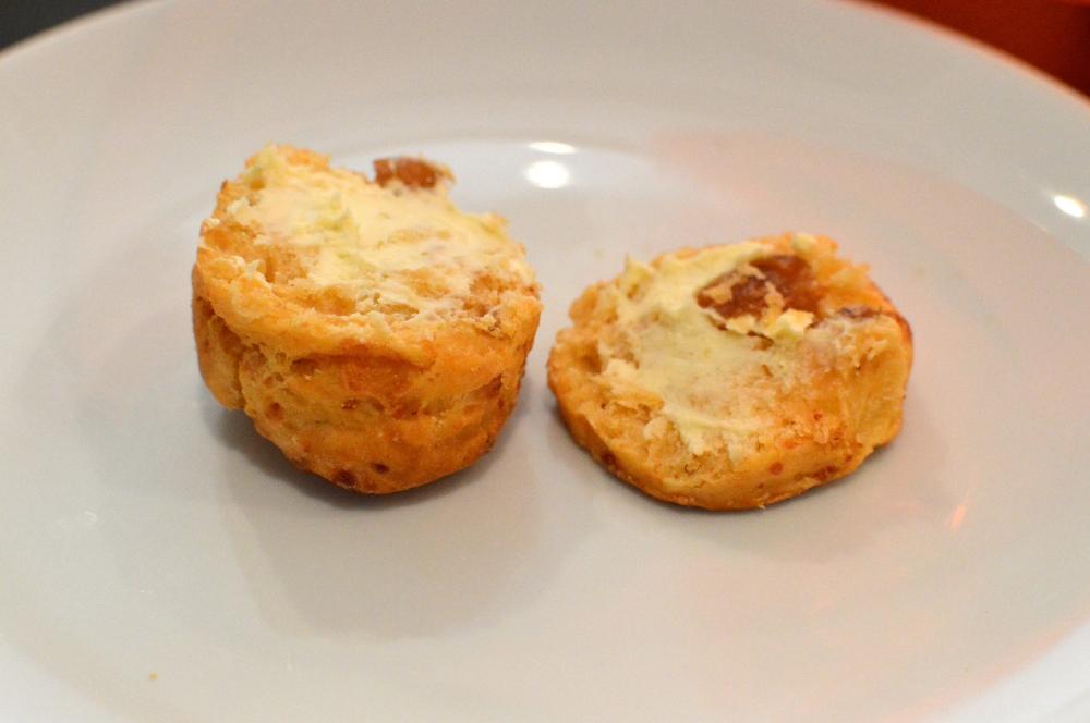 Caramelised onion & mature cheddar scone