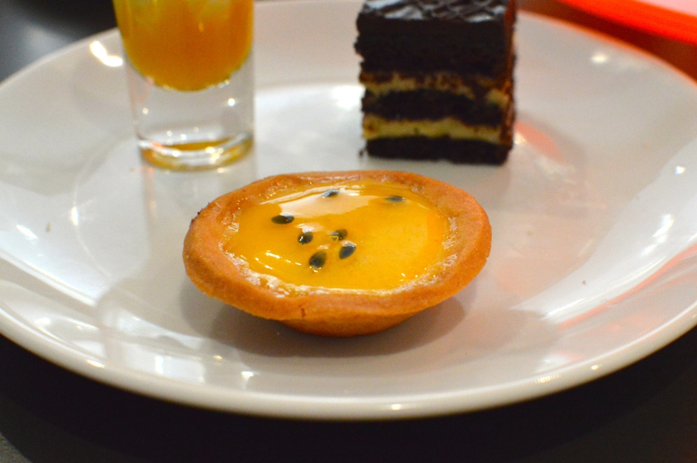 Lemon & passion fruit custard tart