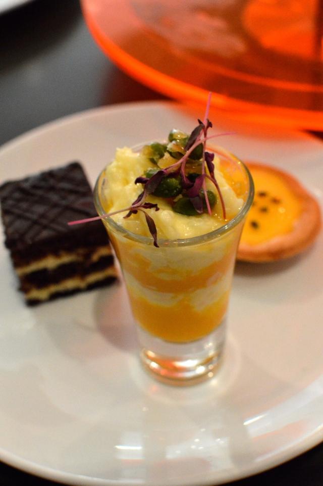 Coconut & mango rice pudding with pistachio