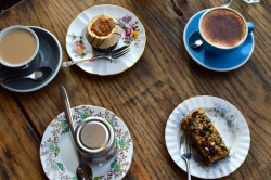 Coffee, tea and cake
