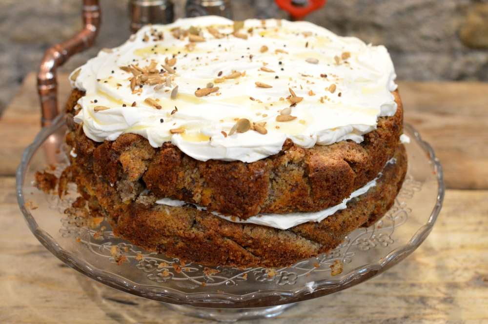 The gluten free carrot and courgette cake