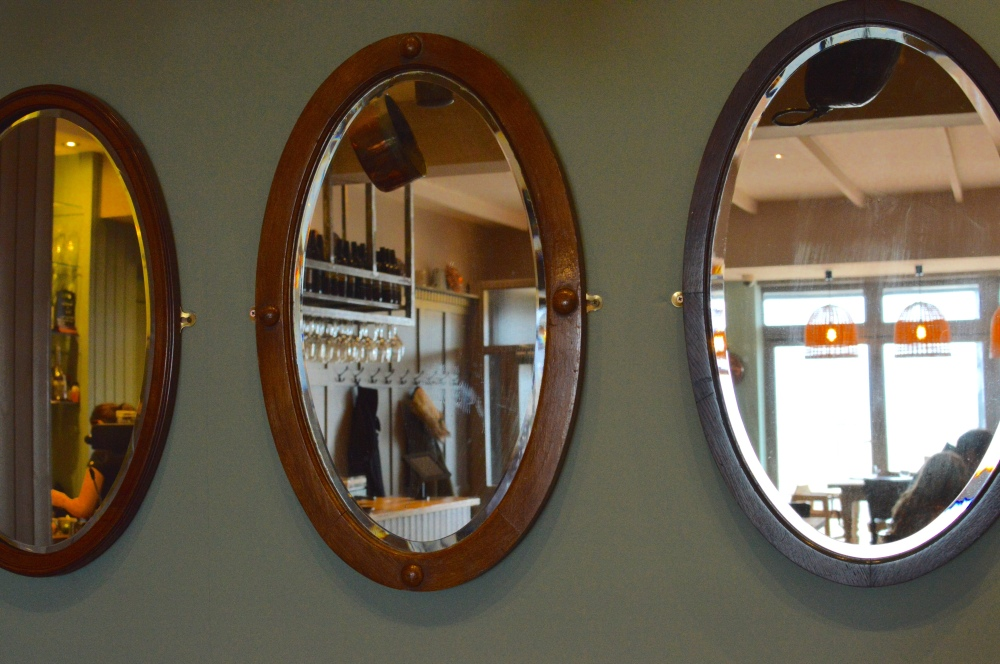Mirrors. Coastal theme. Hinnies Whitley Bay