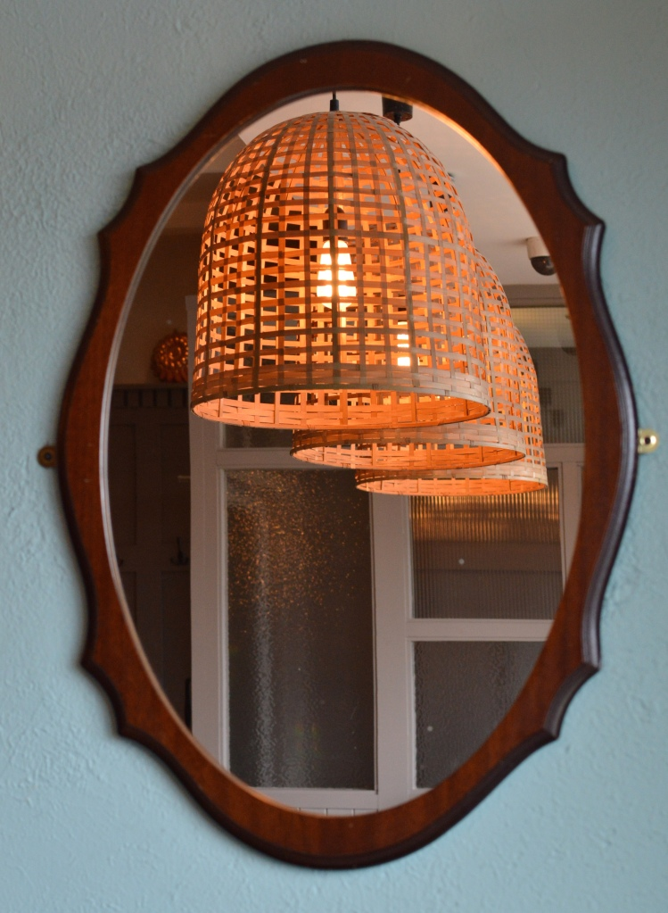 Vintage mirror and light shades