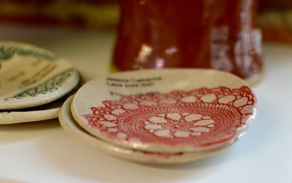 Jessica Catherine - Lace Print Dish - The Biscuit Factory