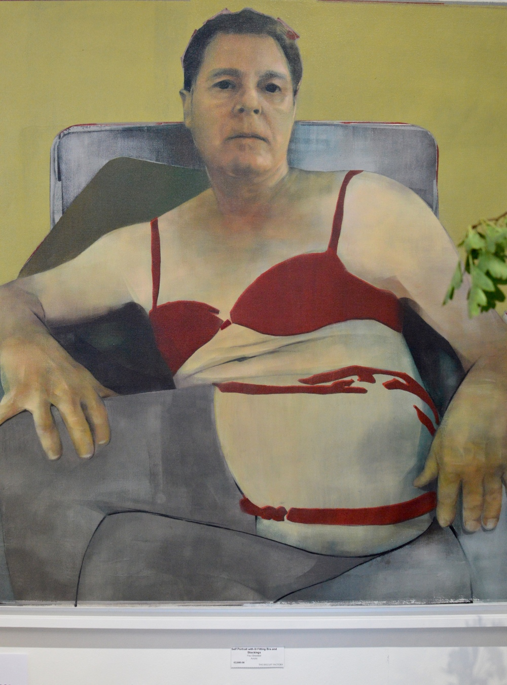 Self Portrait with Ill Fitting Bra and Stockings - Paul Brewster - The Biscuit Factory