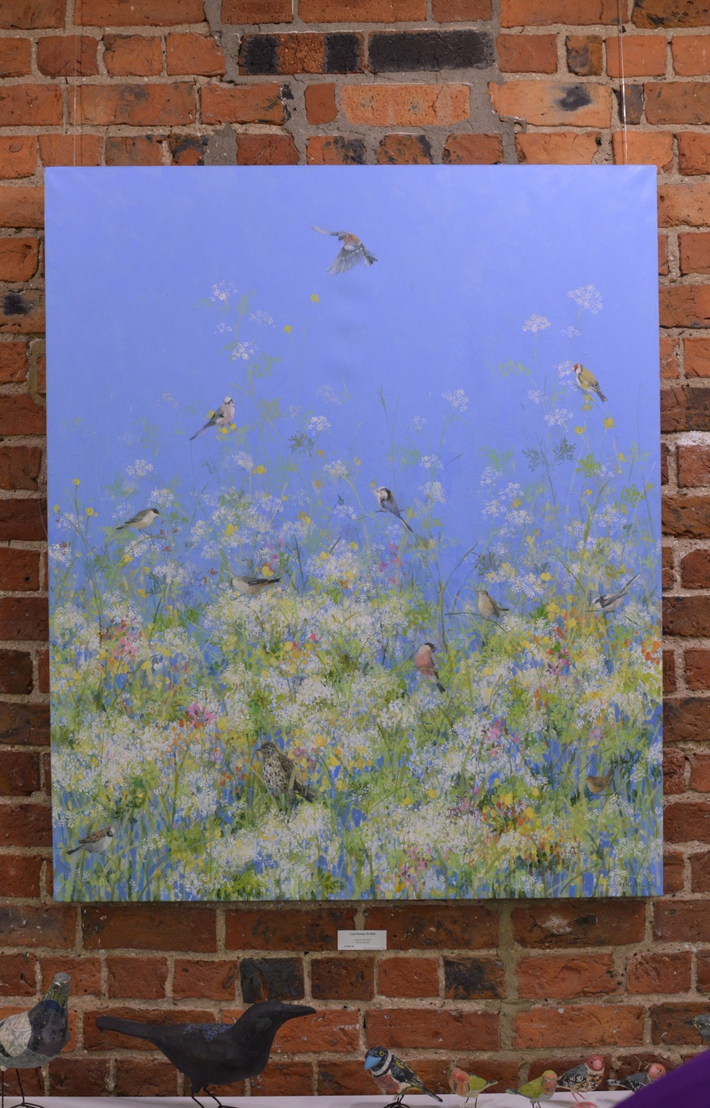 Cow Parsley on Blue - Fletcher Prentice - The Biscuit Factory