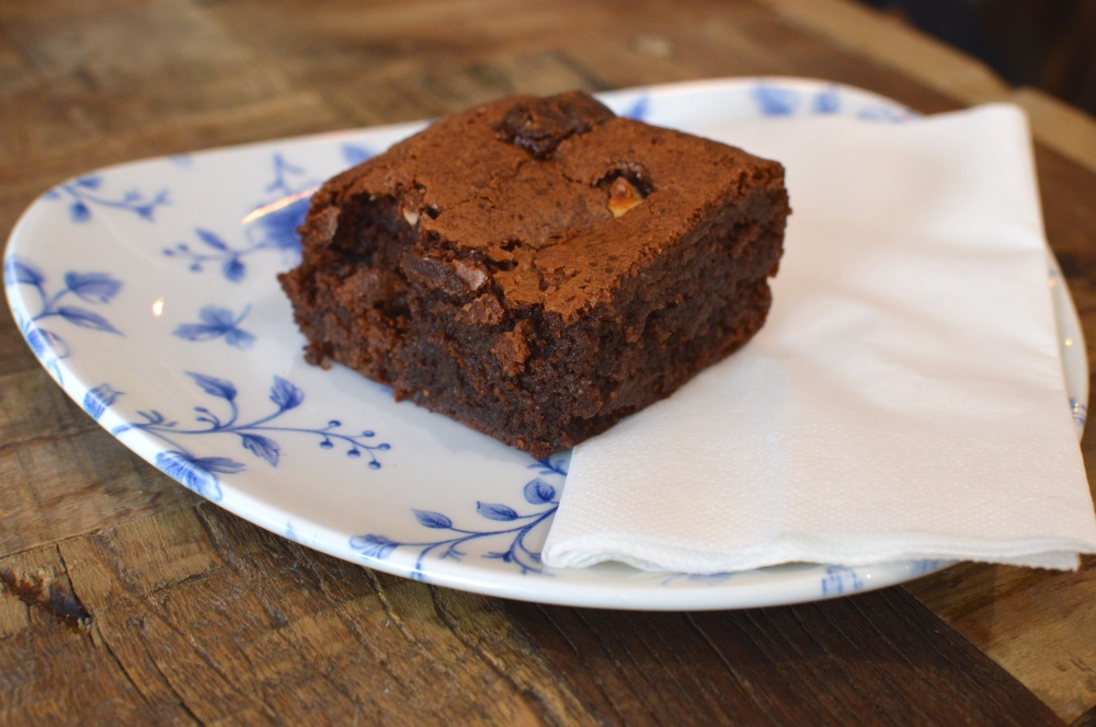 Chocolate Brownie, Violets Cafe Newcastle Quayside
