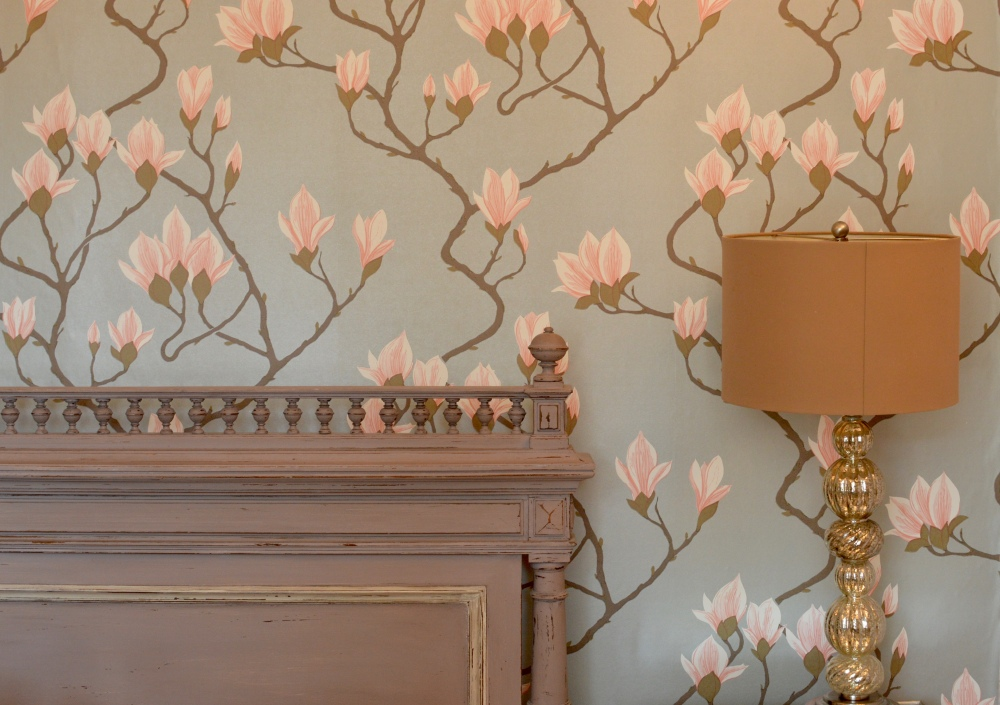 Cole & Son Magnolia Wallpaper - The Rosebery Hotel Jesmond