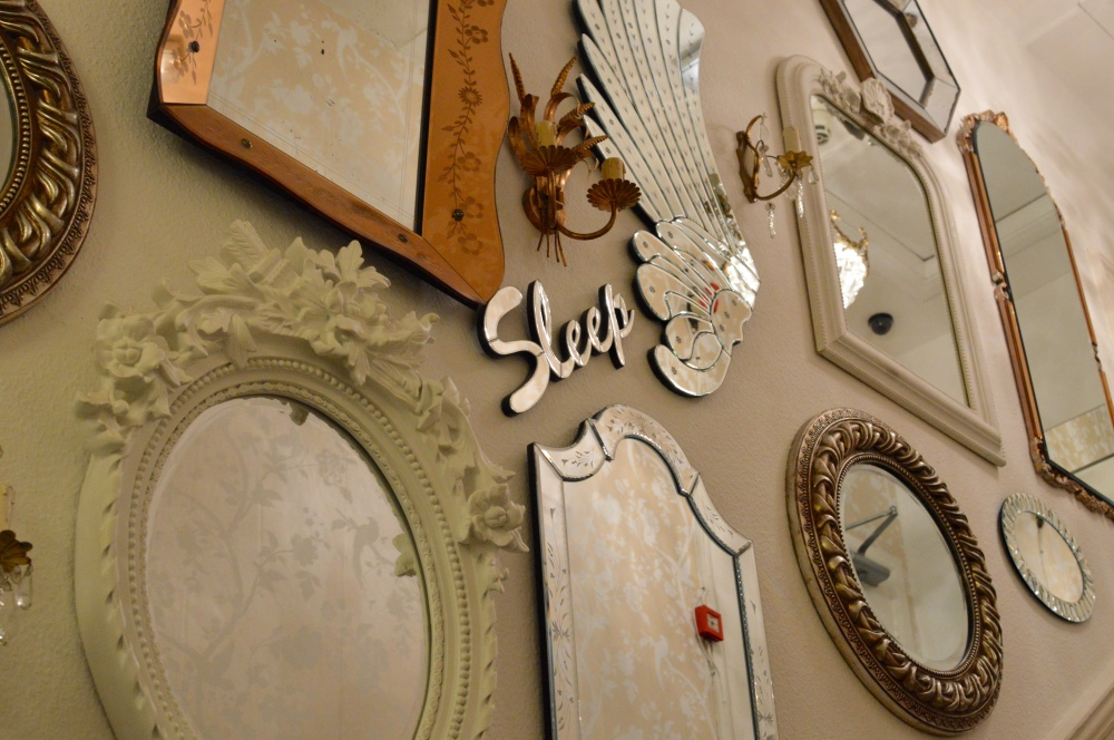 A wall of mirrors - The Rosebery Hotel Jesmond