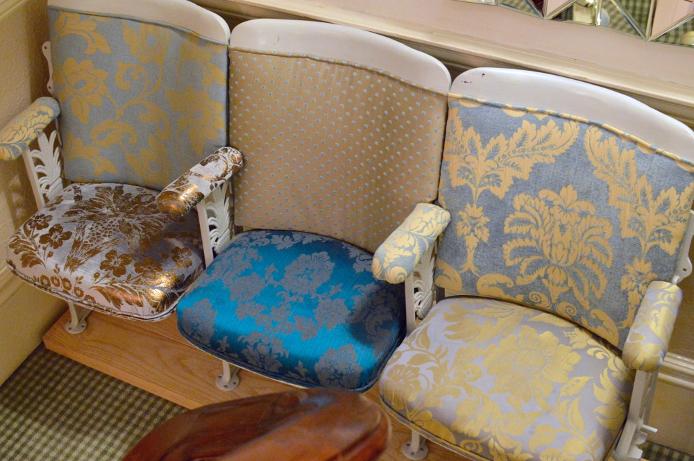 Retro theatre seats - The Rosebery Hotel Jesmond