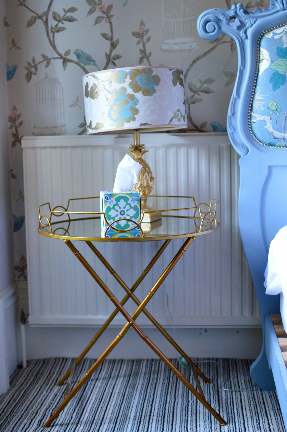 Vintage side table - The Rosebery Hotel Jesmond