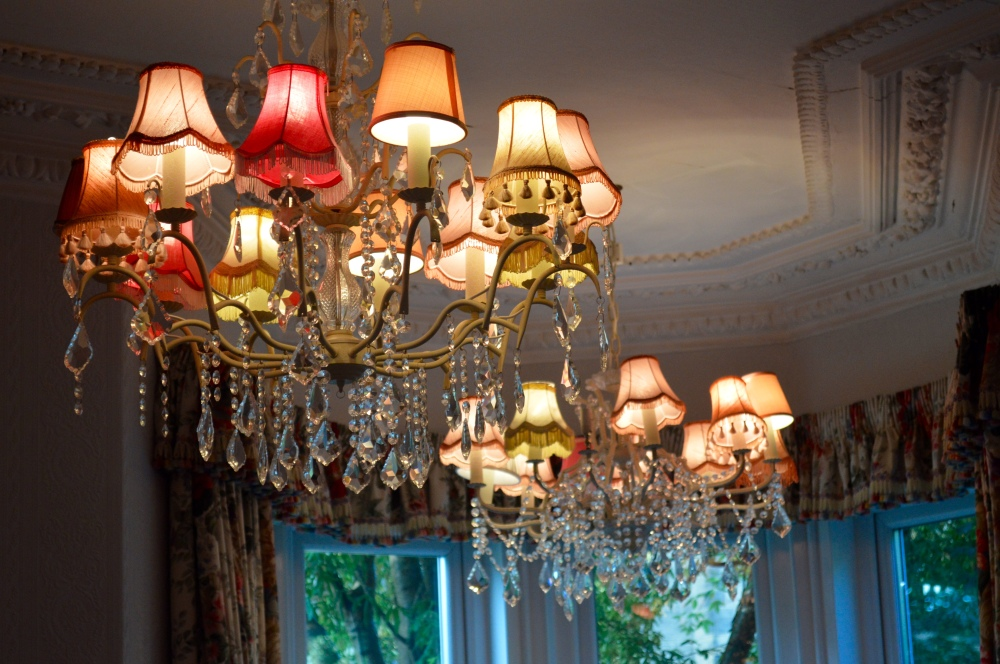 Vintage upcycled chandeliers - The Rosebery Hotel Jesmond
